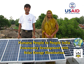 Community Development With Solar Energy Illumination